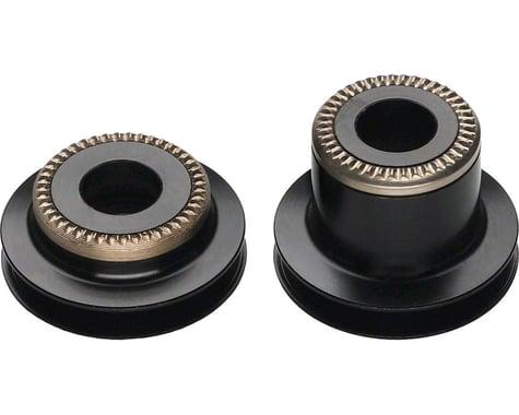 DT Swiss 5mm QR to 9mm Thru Bolt conversion end caps for pre-2010 Center Lock 24