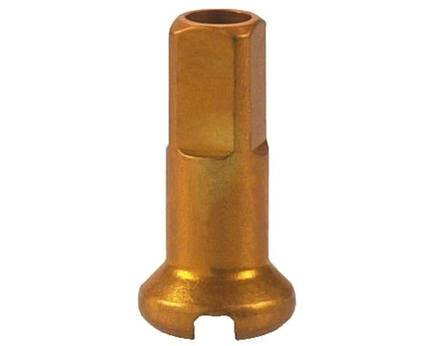 DT Swiss Standard Aluminum Nipples: 1.8 x 12mm, Gold, Box of 100