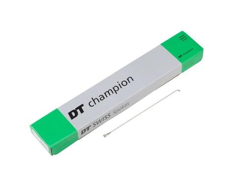 DT Swiss Champion Spoke: 2.0mm, 208mm, J-bend, Silver, Box of 100