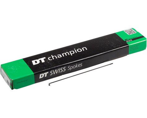 DT Swiss Champion 2.0 296mm Black Spokes Box of 72