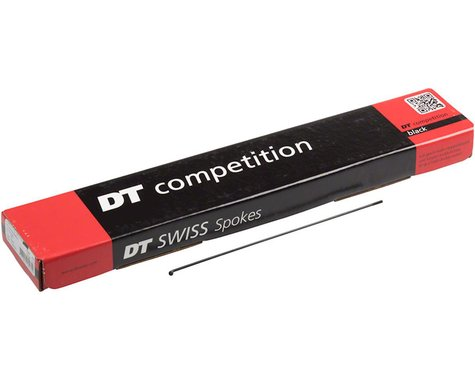 DT Swiss Competition Spoke: 2.0/1.8/2.0mm, 183mm, J-bend, Black, Box of 72