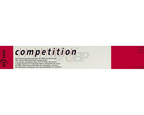DT Swiss Competition Spoke: 2.0/1.8/2.0mm, 195mm, J-bend, Silver, Box of 100