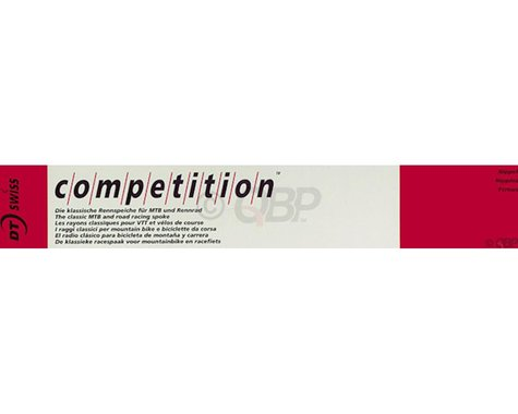 DT Swiss Competition Spoke: 2.0/1.8/2.0mm, 242mm, J-bend, Silver, Box of 100