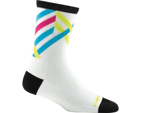 Darn Tough Vermont Graphic Stripe Micro Crew Ultra Light Women's Sock (White) (S)