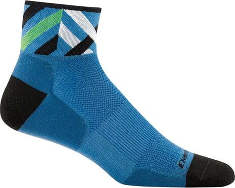 Darn Tough Vermont Graphic 1/4 Ultra Light Men's Sock (Marine) (XL)