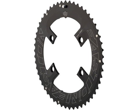 Easton Asyemetric 4-Bolt Outer Chainring (Black) (110mm BCD)