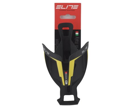 Elite VICO Carbon Water Bottle Cage (Matte Black/Yellow)
