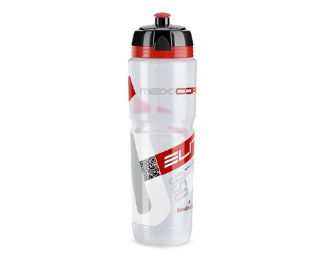 Elite Maxi Corsa Biodegradeable Water Bottle (Clear/Red/Black) (950ml)