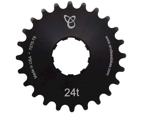 Endless Bike Anodized Kick Ass Cog (Black) (24T)