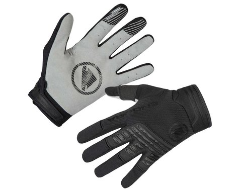 Endura SingleTrack Long Finger Gloves (Black) (XL)