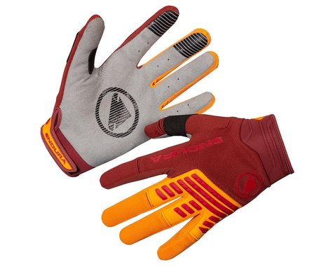 Endura SingleTrack Long Finger Gloves (Tangerine) (S)