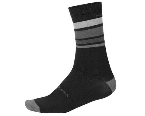 Endura BaaBaa Merino Stripe Sock (Black) (L/XL)