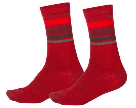 Endura BaaBaa Merino Stripe Sock (Red) (L/XL)