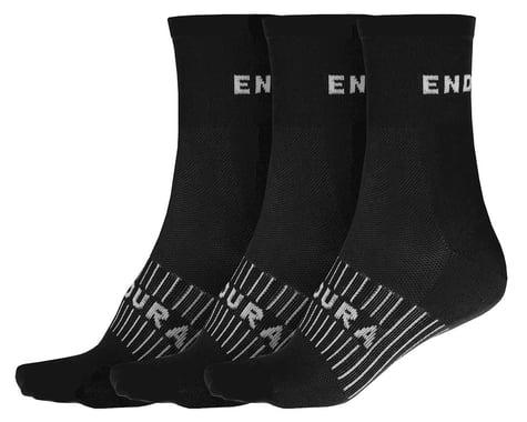 Endura Coolmax Race Sock (Triple Pack) (Black) (S/M)