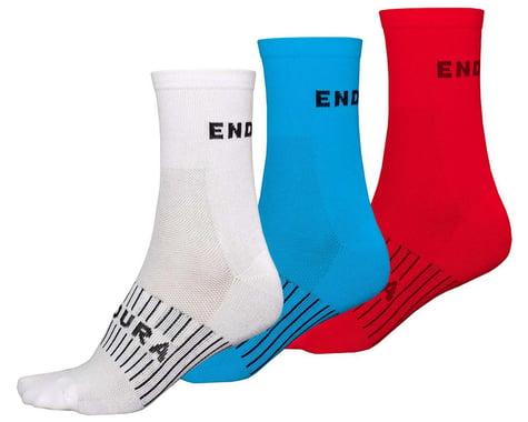 Endura Coolmax Race Sock (Triple Pack) (Red/White/Blue) (L/XL)