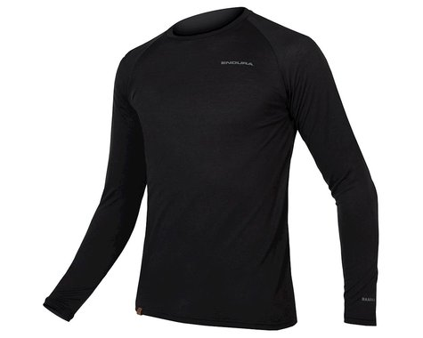 Endura BaaBaa Blend Long Sleeve Base Layer (Black) (L)