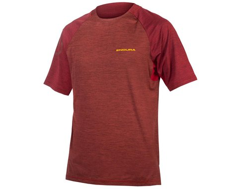 Endura SingleTrack Short Sleeve Jersey (Cocoa) (M)