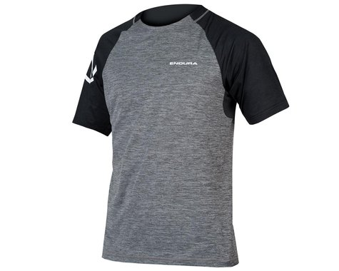 Endura SingleTrack Short Sleeve Jersey (Pewter Grey) (XL)