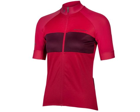 Endura Women's FS260-Pro Short Sleeve Jersey (Berry) (L)