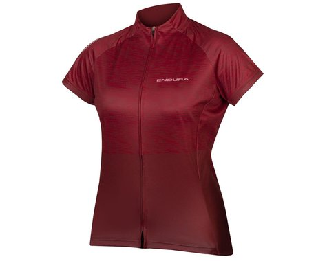 Endura Women's Hummvee Ray Short Sleeve Jersey II (Cocoa) (L)