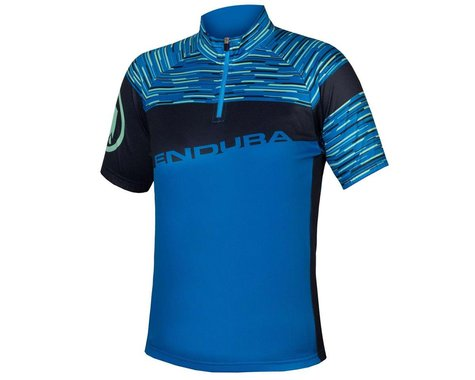 Endura Kids Hummvee Ray Short Sleeve Jersey (Azure Blue) (Youth S)