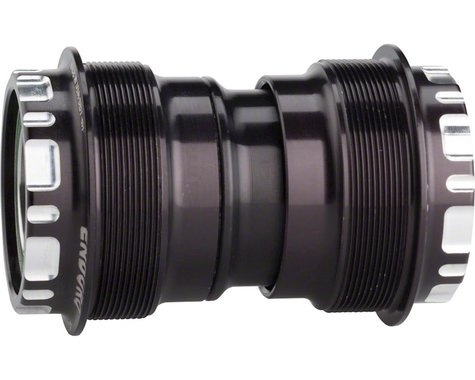 Enduro T47 Bottom Bracket: Stainless Steel Angular Contact Bearings 24mm, Black
