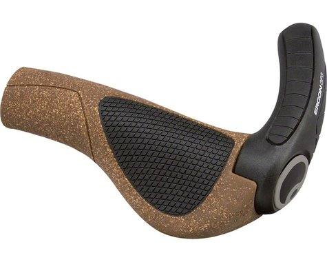 Ergon GP3 BioKork Grips (Grey/Black) (L)