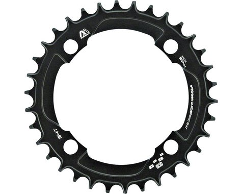 E*Thirteen M Profile Narrow Wide Chainring (Black) (104mm BCD) (34T)