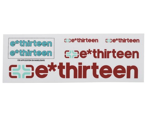 E*Thirteen Race Handlebar Decal Set (Petrol Turquoise)
