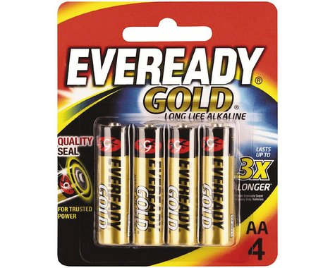 Eveready Gold AA Alkaline Battery (4)