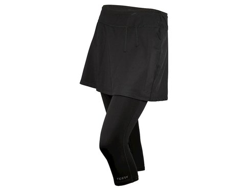 Exustar Terry Women's Stretch Midi Skirt with Knickers (Black)