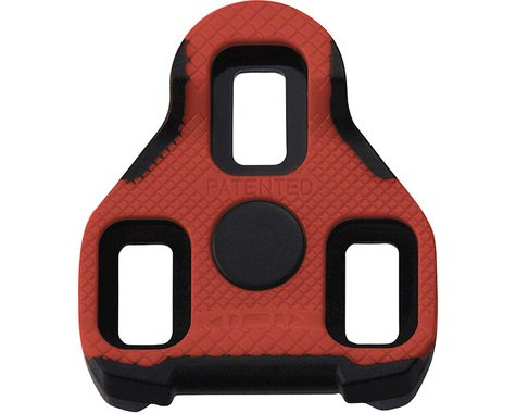 Exustar ARC11+ Look/Keo Cleats with Anti-Slip: 7 degree, Red