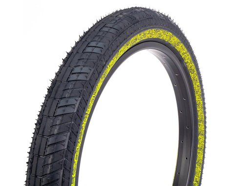Fiction Atlas LP Night Moves Tire (Black/Reflective Yellow) (20 x 2.40)