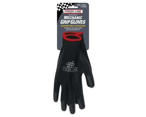Finish Line Mechanic's Grip Gloves (Black) (L/XL)