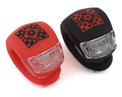 Fit Bike Co Bike Lights (Front and Rear) (Black/Red)