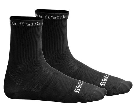 fizik Summer Cycling Socks (Black/White) (XS/S)
