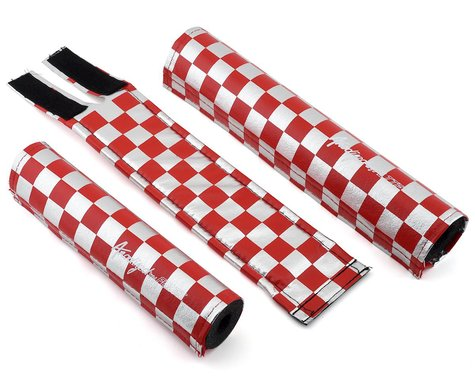 Flite Checkerboard Padset (Red/Chrome)