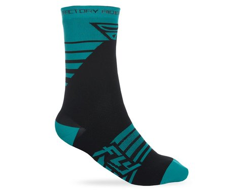 Fly Racing Factory Rider Sock (Teal/Black)