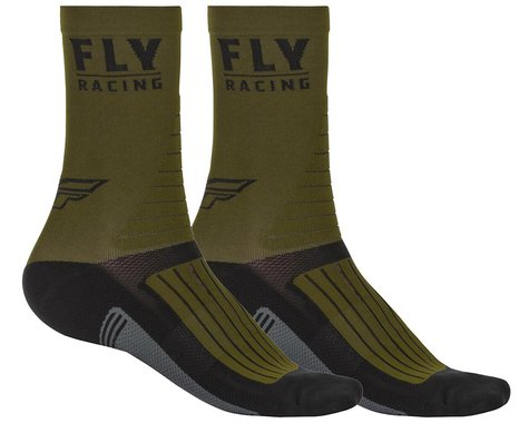 Fly Racing Factory Rider Socks (Green/Black/Grey) (S/M)