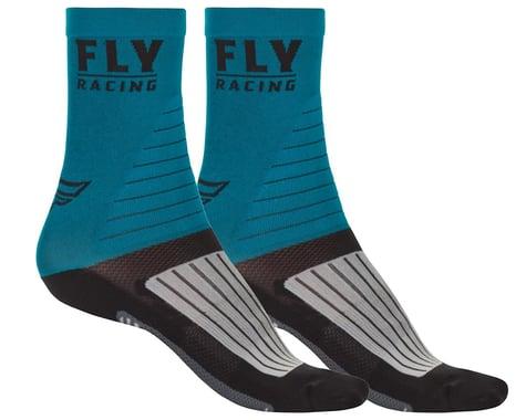 Fly Racing Factory Rider Socks (Blue/Black/Grey) (S/M)