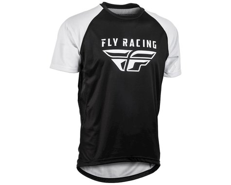 Fly Racing Super D Jersey (White/Black)
