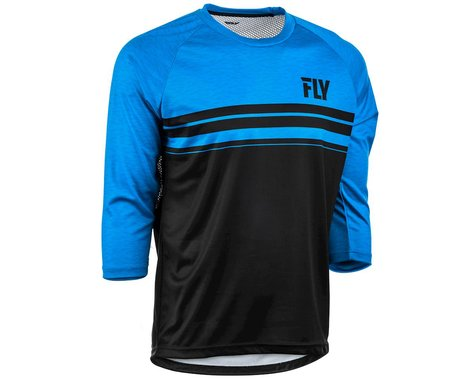 Fly Racing Ripa 3/4 Jersey (Black/Heather Blue) (M)