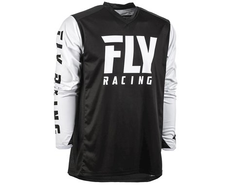 Fly Racing Radium Jersey (Black/White) (S)