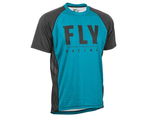 Fly Racing Super D Jersey (Blue Heather/Black) (L)