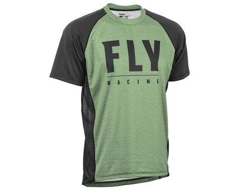 Fly Racing Super D Jersey (Sage Heather/Black) (XL)