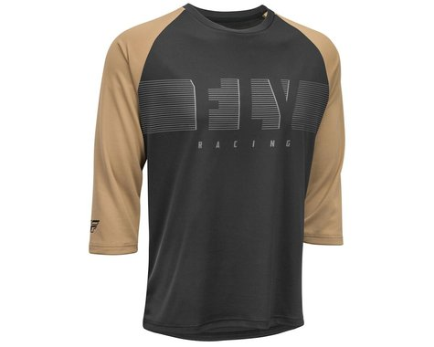 Fly Racing Ripa 3/4 Jersey (Black/Khaki) (XL)