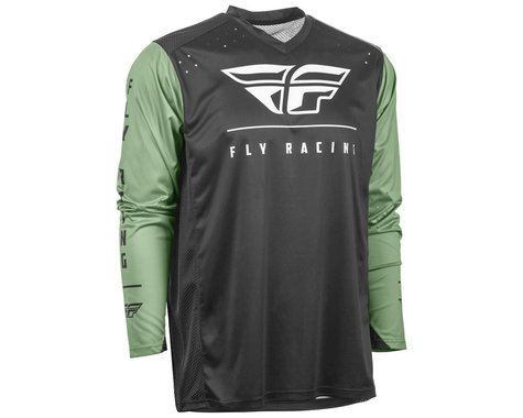 Fly Racing Radium Jersey (Black/Sage) (L)