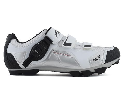 Fly Racing Talon RS Clipless Shoe (White/Silver)