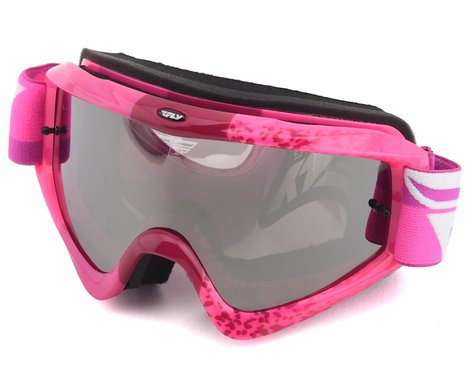 Fly Racing Zone Composite Goggle (Grey/Pink) (Clear Lens)