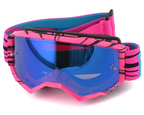 Fly Racing Zone Youth Goggle (Pink/Teal) (Sky Blue Mirror Lens)